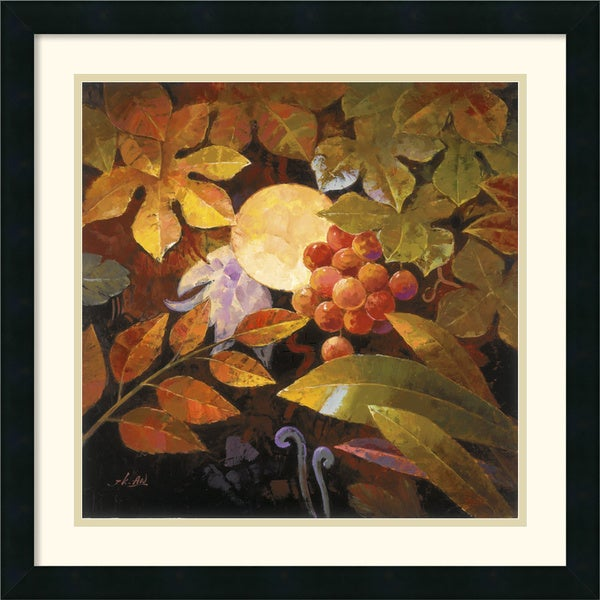 Jung K. An 'Tropical Leaves and Moon I' Framed Art Print