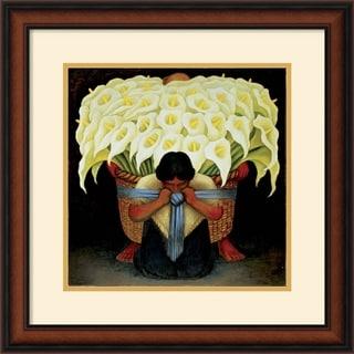 Diego Rivera 'El Vendedor de Alcatraces' Framed Art Print