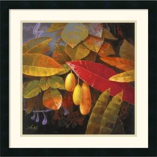 Jung K. An 'Tropical Leaves I' Framed Art Print