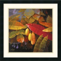 Framed Art Print 'Tropical Leaves I' by Jung K. An 22 x 22-inch