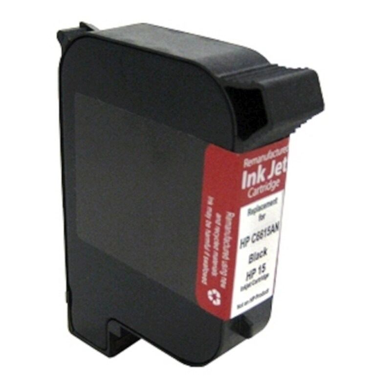 INSTEN HP InkJet 15/ C6615DN Black Ink Cartridge (Remanufactured)