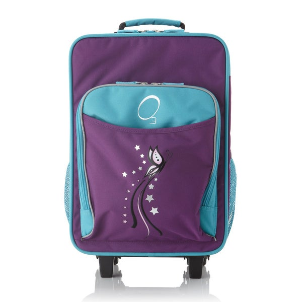 """O3 Kids """"Butterfly"""" 16-inch Rolling Carry On Cooler Upright"""
