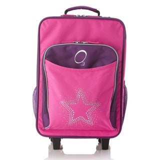 """Obersee Kids """"Rhinestone Star"""" 16-inch Rolling Carry On Cooler Upright"""