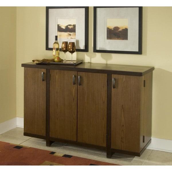 Geo Walnut Bar Cabinet