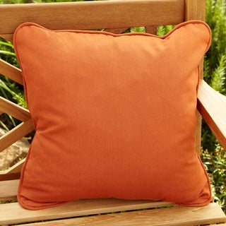 Clara Rust 18-inch Square Outdoor Sunbrella Pillows (Set of 2)