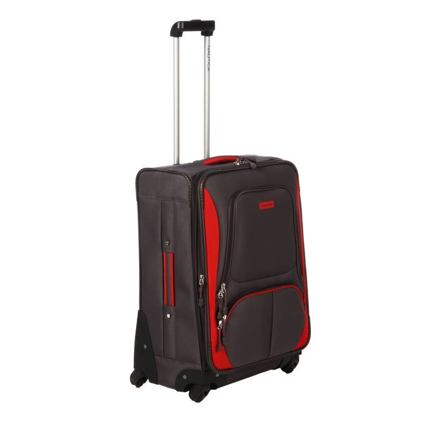 Nautica Downhaul Grey / Red 24-inch Expandable Spinner Upright