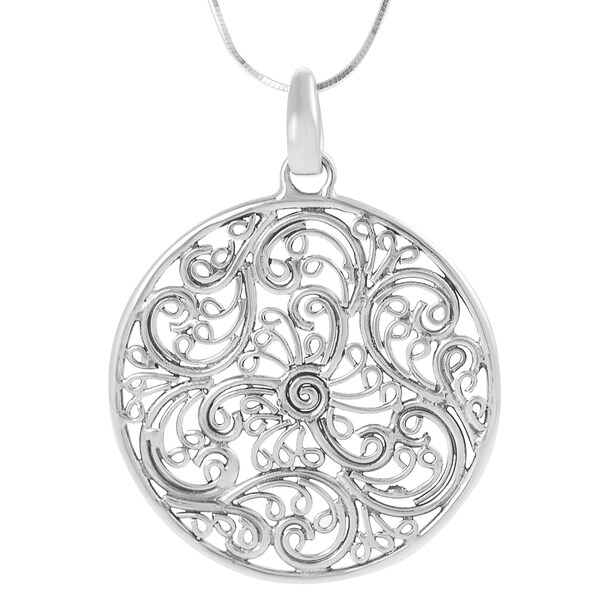 Journee Sterling Silver Balinese Filigree Necklace