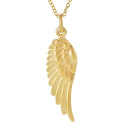Journee Collection Gold over Silver Wing Necklace