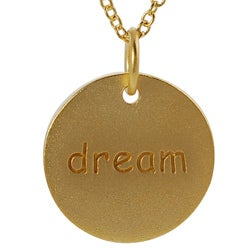 Journee Collection Gold over Silver 'Dream' Disc Necklace