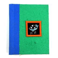 Handmade Twine-bound Recycled Paper Guinea Fowl Journal (Zimbabwe)