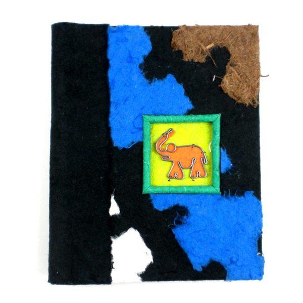 Handmade Twine-bound Recycled Paper Elephant Journal (Zimbabwe)