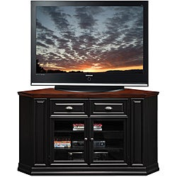 Black/Cherry 62-inch Corner TV Stand & Media Console