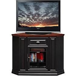 Black/Cherry 46-inch Corner TV Stand & Media Console
