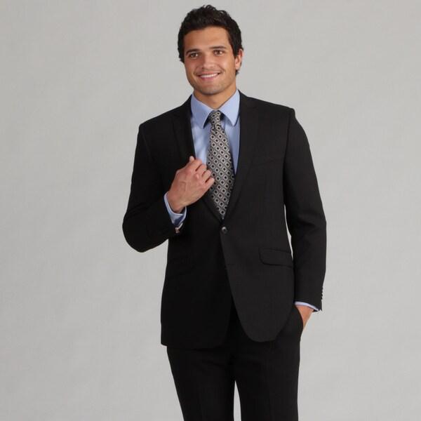 Ben Sherman Men's Black Slim-fit Wool Suit