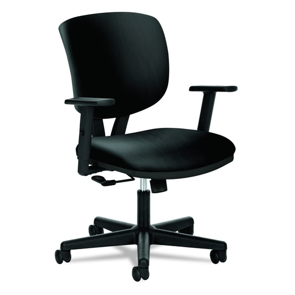 Incroyable HON Volt H5701 Task Chair, Black SofThread Leather