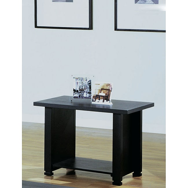 Black Veneer End Table