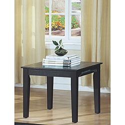 Black Oak Veneer End Table
