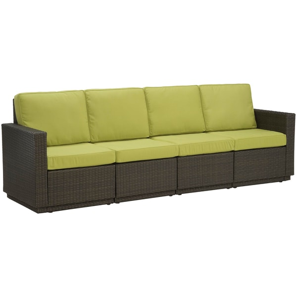 Home Styles Riviera Green Apple Four Seat Sofa