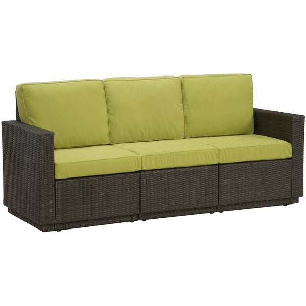 Riviera Green Apple Three Seat Sofa by Home Styles