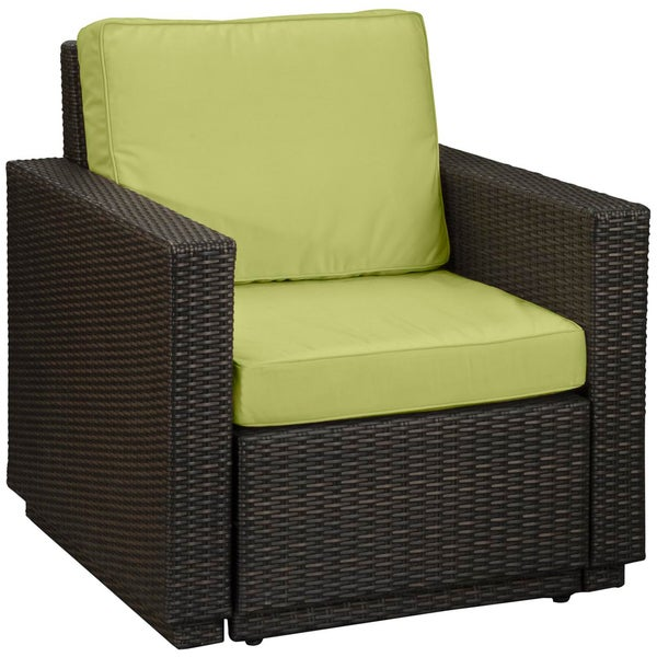 Home Styles Riviera Green Apple Arm Chair