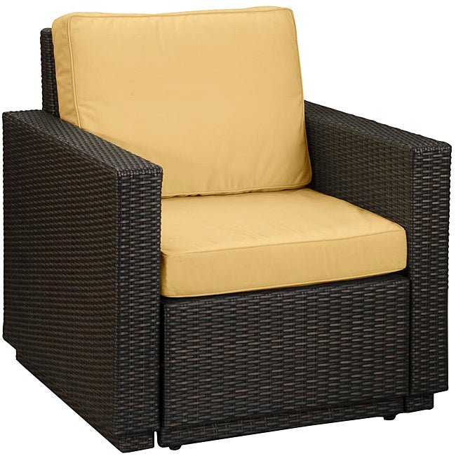 Home Styles Riviera Harvest Yellow Arm Chair