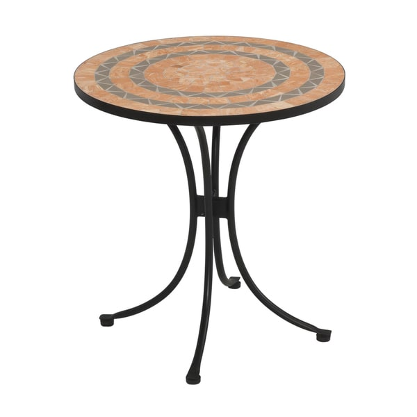 terra cotta sandstone tile top bistro table by home styles free shipping today overstockcom 14248505 - Terra Cotta Tile Canopy 2015