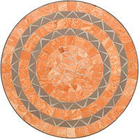 Terra Cotta Sandstone Tile Top Bistro Table by Home Styles