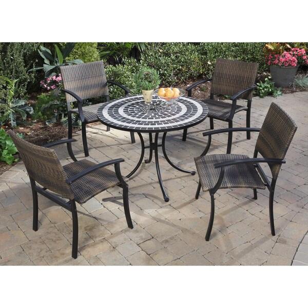 Walmart Clearance Furniture: Delmar Black And Grey 5-piece Dining Set