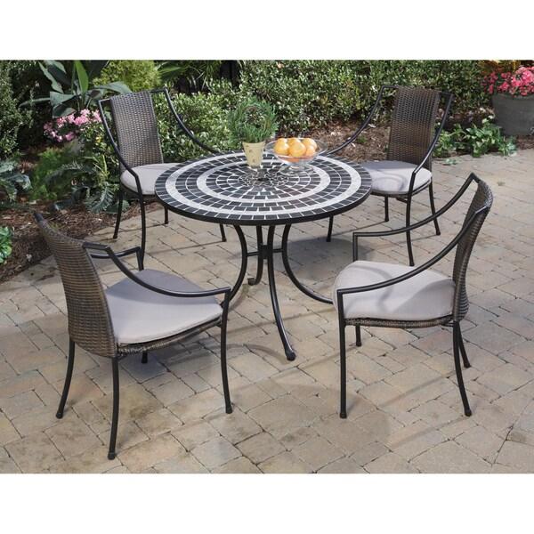 Delmar Black and Grey 5-piece Dining Set