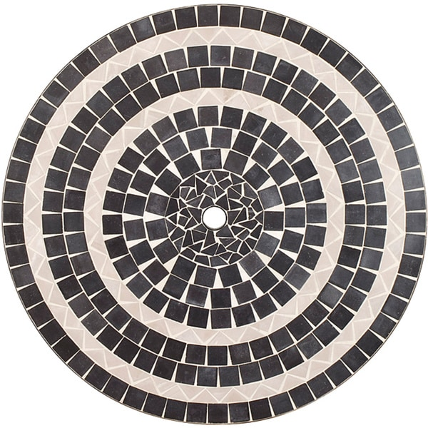 Delmar Black and Gray Tile Top Table with Umbrella Hole