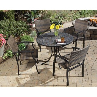 Stone Harbor 5-piece Slate Dining Set with Newport Chairs by Home Styles