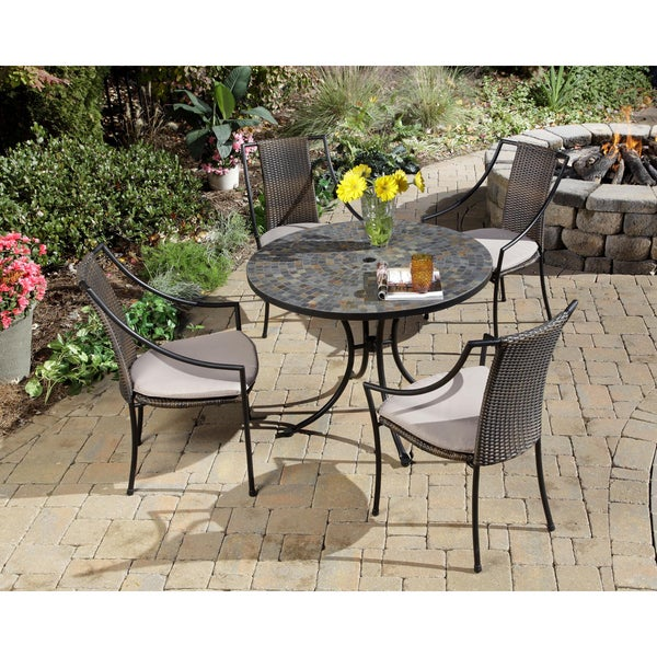 Home Styles Stone Harbor 5-piece Slate Dining Set
