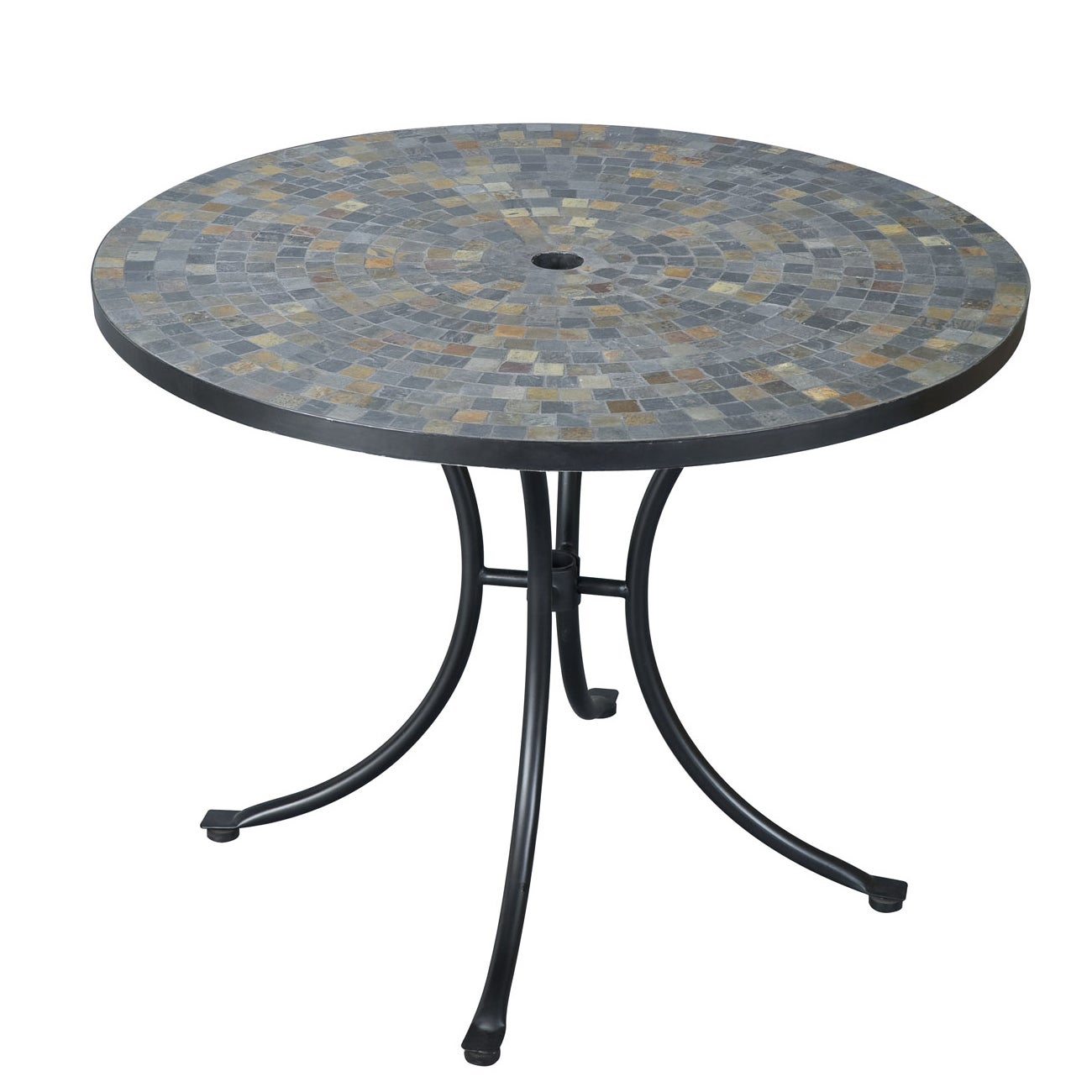 Stone Harbor Slate Tile Top Dining Table by Home Styles (...