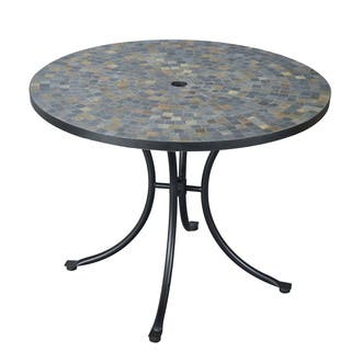 Stone Harbor Slate Tile Top Dining Table by Home Styles. Tile Patio Furniture   Outdoor Seating   Dining For Less