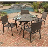 Stone Harbor Table and Newport Arm Chair 5-piece Dining Set by Home Styles