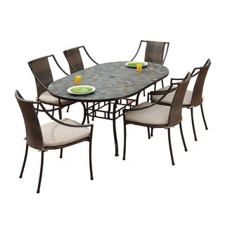 Stone Harbor Table and Laguna Arm Chairs 7-piece Dining Set by Home Styles