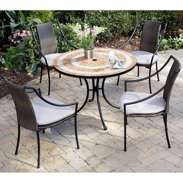 Home Styles Valencia Terra Cotta Dining Table