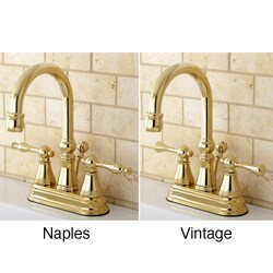 High Spout Polished Brass Bathroom Faucet