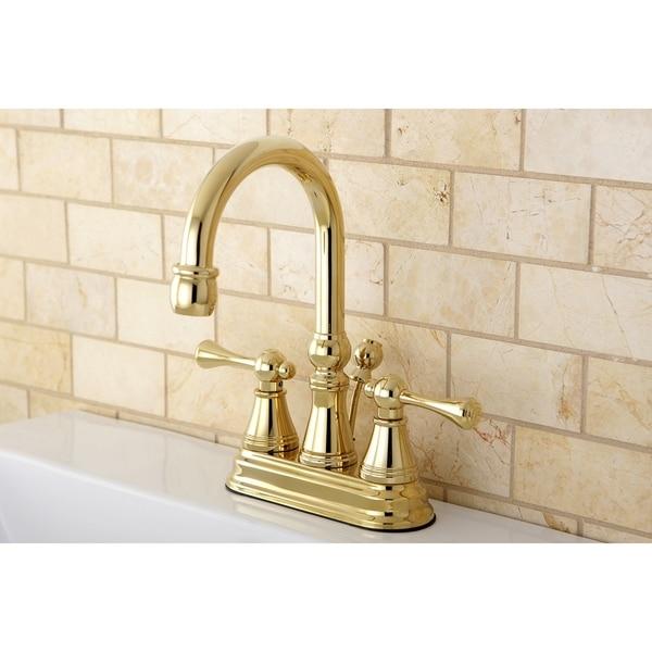 Shop High Spout Polished Brass Bathroom Faucet