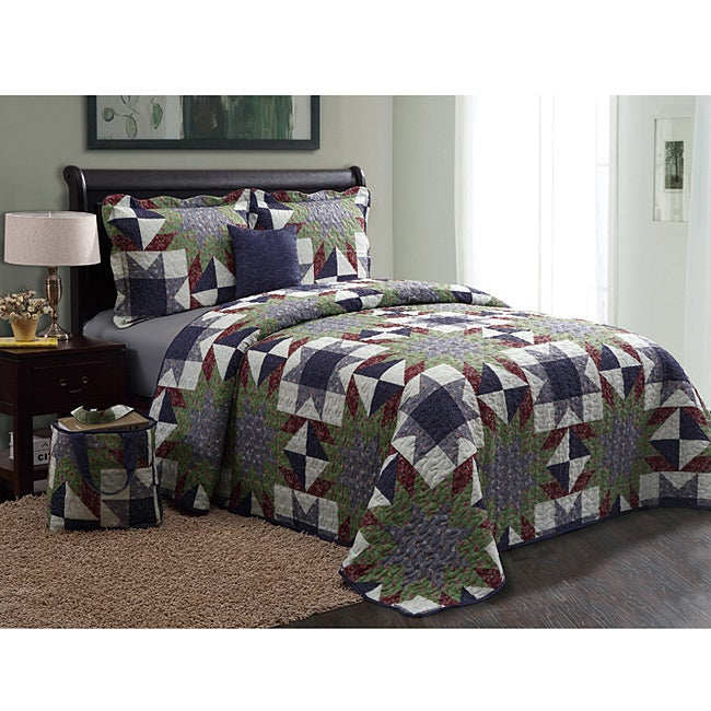 VCNY American Dark 5-piece Quilt Set