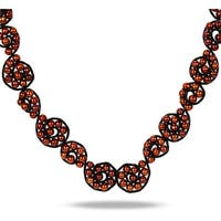 Miadora Black Leather Cord Brown Freshwater Pearl Necklace (6-6.5 mm)