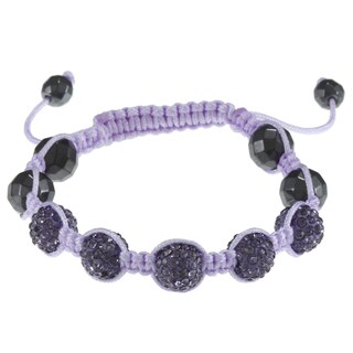 La Preciosa Children's Crystal and Hematite Bead Macrame Bracelet (3 options available)