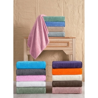 Salbakos Arsenal Turkish Cotton Quick-dry 8-piece Towel Set with Bath Sheet Towels
