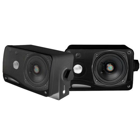 Pyle 3.5-inch 200-watt 3-way Weatherproof Box Speakers Pair