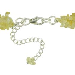Miadora Sterling Silver Citrine Chip 3-strand 17-inch Necklace - Thumbnail 1