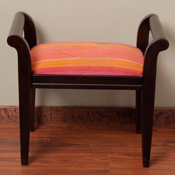 Wood Stripe Bench (Peru)