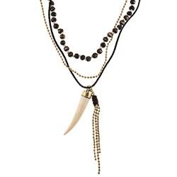 Goldtone Glass Bead 'Nubia' Multi-strand Necklace