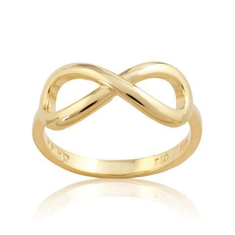 La Preciosa Sterling Silver Infinity Design High Polish Ring