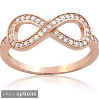 La Preciosa Sterling Silver Cubic Zirconia Infinity Ring