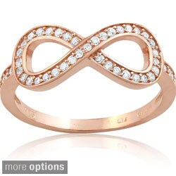 La Preciosa Sterling Silver Cubic Zirconia Infinity Ring (More options available)